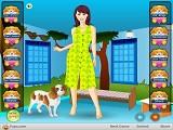Hra - Krásná paní s fenkou